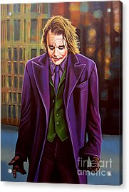 The Joker In Batman  Acrylic Print by Paul Meijering