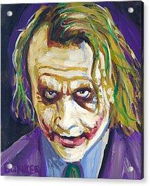 The Joker Acrylic Print by Buffalo Bonker