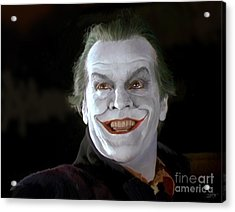 The Joker Acrylic Print by Paul Tagliamonte