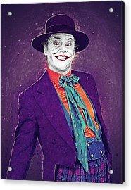 The Joker Acrylic Print by Taylan Apukovska
