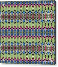 The Joy Of Design X X X I I I Arrangement 1 Tile 9x2 Acrylic Print by Helena Tiainen