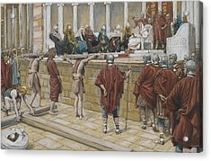 The Judgement On The Gabbatha Acrylic Print by Tissot