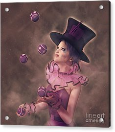 The Juggler Acrylic Print by Methune Hively