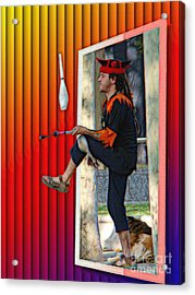 The Juggler Acrylic Print by Sue Melvin
