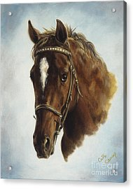 The Jumper Acrylic Print by Cathy Cleveland