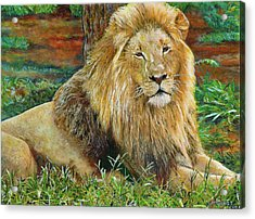 The King Acrylic Print by Michael Durst