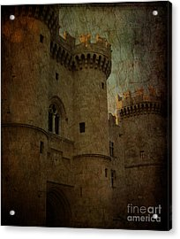 The King's Medieval Layer Acrylic Print by Lee Dos Santos