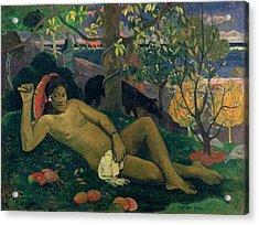 The Kings Wife Acrylic Print by Paul Gauguin
