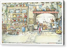 The Kitchen At Crabapple Cottage Acrylic Print by Brambly Hedge