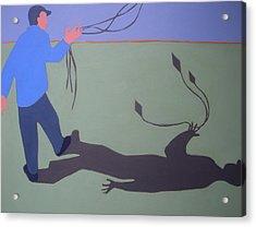 The Kite Flyer Acrylic Print by Renee Kahn