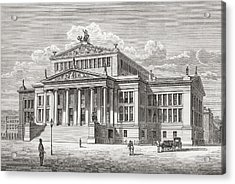 The Konzerthaus Berlin, Gendarmenmarkt Acrylic Print by Vintage Design Pics