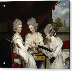 The Ladies Waldegrave Acrylic Print by Joshua Reynolds