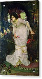 The Lady Of Shalott Acrylic Print by John William Waterhouse