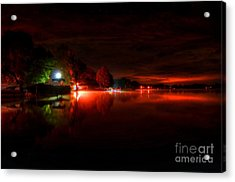 The Lake At Nightfall Acrylic Print by Michael Garyet