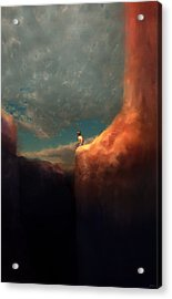 The Landing Acrylic Print by Ethan Harris
