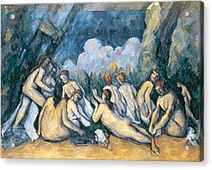 The Large Bathers Acrylic Print by Paul Cezanne