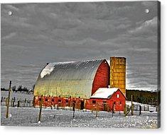The Last Barn Acrylic Print by Robert Pearson