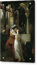 The Last Kiss Of Romeo And Juliet Acrylic Print by Francesco Hayez