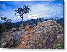 The Last Of The Sunset Acrylic Print by James Steele