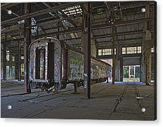 The Last Pullman Car Acrylic Print by Robert Myers