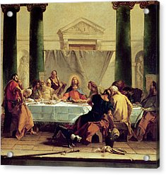 The Last Supper Acrylic Print by Giovanni Battista Tiepolo