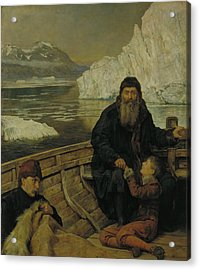 The Last Voyage Of Henry Hudson Acrylic Print by John Collier