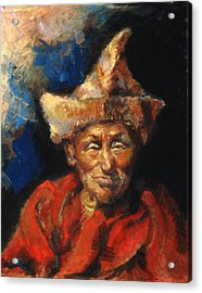 The Laughing Monk Acrylic Print by Ellen Dreibelbis
