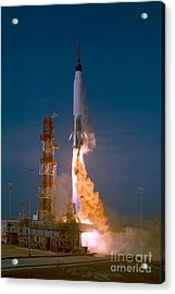 The Launch Of The Mercury Atlas Acrylic Print by Stocktrek Images
