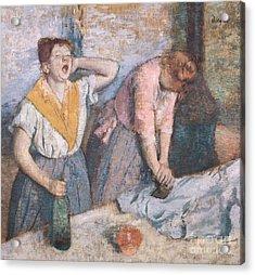 The Laundresses Acrylic Print by Edgar Degas