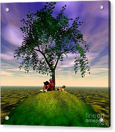 The Learning Tree Acrylic Print by Walter Oliver Neal