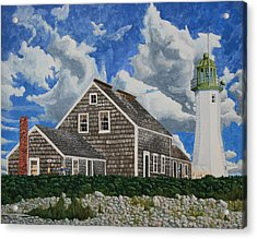 The Light Keeper's House Acrylic Print by Dominic White