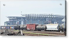 The Linc From The Other Side Of The Tracks Acrylic Print by Bill Cannon
