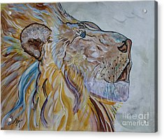 The Lion Call Acrylic Print by Ella Kaye Dickey