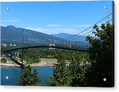 The Lions Gate Bridge Acrylic Print by Christiane Schulze Art And Photography