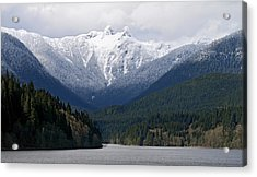 The Lions Mountain Vancouver Acrylic Print by Pierre Leclerc Photography