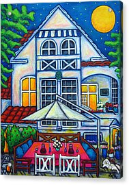 The Little Festive Danish House Acrylic Print by Lisa  Lorenz