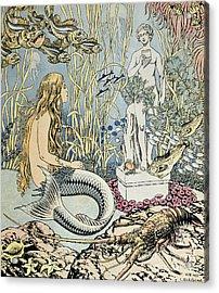 The Little Mermaid Acrylic Print by Ivan Jakovlevich Bilibin