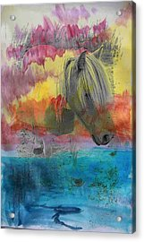 The Little Pony Acrylic Print by Contemporary  Art