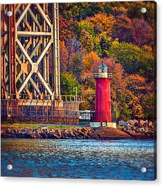 The Little Red Lighthouse Acrylic Print by Chris Lord