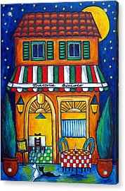 The Little Trattoria Acrylic Print by Lisa  Lorenz