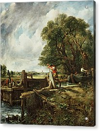 The Lock Acrylic Print by John Constable