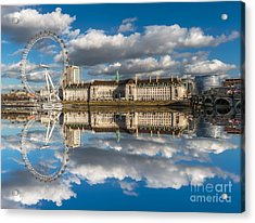 The London Eye Acrylic Print by Adrian Evans