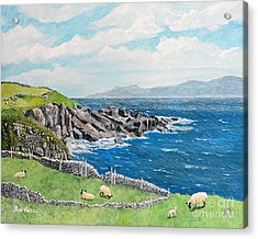 The Lonely Cliffs Of Dingle, Ireland Acrylic Print by Dan O'Neill