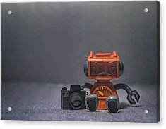 The Lonely Robot Photographer Acrylic Print by Scott Norris