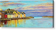 The Long Walk Galway Acrylic Print by Conor McGuire