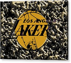 The Los Angeles Lakers B3a Acrylic Print by Brian Reaves