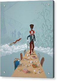 The Mad Hatter Tea Party Acrylic Print by Joe Odonovan