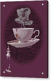 The Mad Teacup - Rose Acrylic Print by Swann Smith