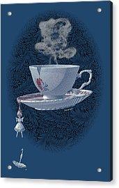 The Mad Teacup - Royal Acrylic Print by Swann Smith