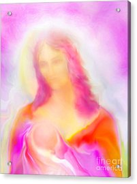 The Madonna Of Compassion Acrylic Print by Glenyss Bourne